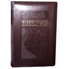 Библия 053 ZTI Цвет: темно-коричневая с виноградом