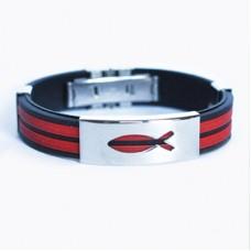 """Христианский браслет """"Рыбка"""", цвет: красный"""