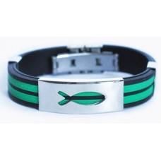 """Христианский браслет """"Рыбка"""", цвет: зеленый"""